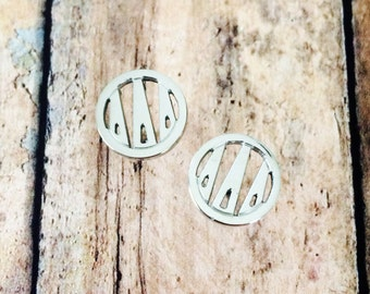 Delta Delta Delta Monogram Style Stud Earrings | Delta Delta Delta Earrings | Tridelta Earrings | Sorority Earrings | Monogram Earrings