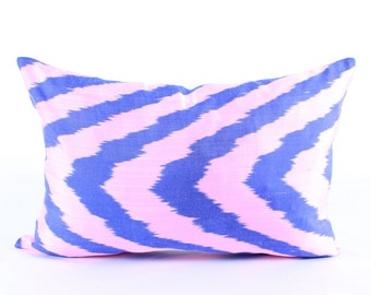 Pink Blue Ikat Pillow Cover Decorative Pillows For Couch Pink Black Pillows Candy Pink Pillows Ikat Pillowcase Hot Pink Eclectic Home Decor