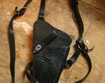 US Military KPM 7791527 Black Leather Shoulder Holster for Colt 45, 1911, M7