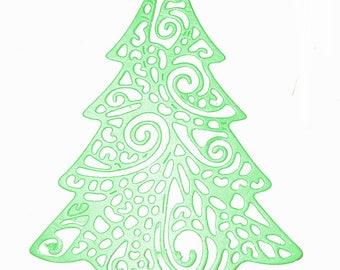 scrapbooking Christmas tree cutout