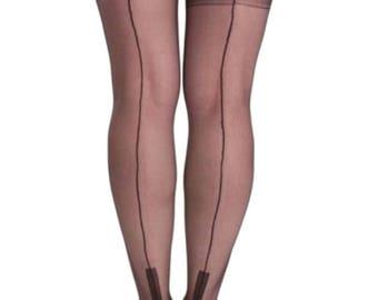 Premier Hosiery Fully Fashioned Cuban Heel Stockings ( PLffc )