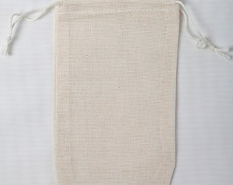 Made in the USA 3x5 inch Muslin Double Drawstring Bags