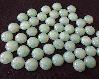 Vintage Green Aventurine 16mm Round Cabochons