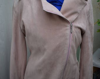 Brand new pink leather jacket. Womens leather jacket