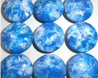 Custom made One of a Kind Furniture and Cabinet Knob-Aqua and Periwinkle