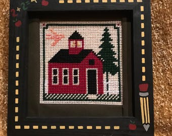 One room school house-pencil painted frame