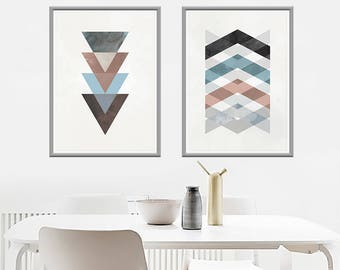 Nordic Abstract Art, Large size, 50x70, Digital Download, Instant Download, Resizable, Minimal, Scandinavian Poster, Set of 2