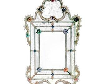 Murano Venetian Glass Wall Mirror 700 century palace reproduction