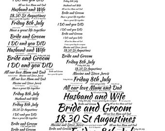 Wedding Couple word art picture