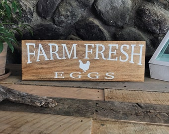 Farm Fresh Eggs - Farmhouse Sign - Home Decor