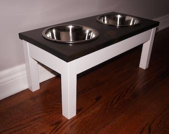 Dog Bowl Stand - Medium Dog Feeder - Farmhouse Style - Rustic Dog Bowl Stand - Raised Dog Bowl Feeder - Elevated Dog Feeder