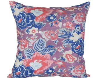 Summer Palace Coral designer pillow cover - Made to Order