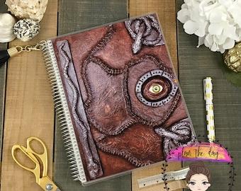 Hocus Pocus Spell Book Laminated Planner Cover for Erin Condren Life Planner, Plum Paper Planner, or Happy Planner