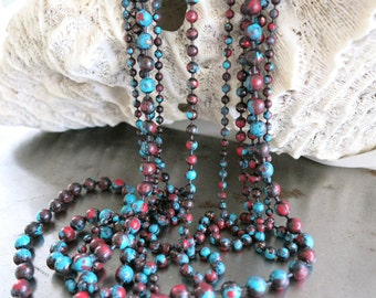 """3.2mm COPPER Ball Chain, SONORA SUNRISE Patina , Hand Applied Patina, by the Inch, 6"""" to 36"""""""