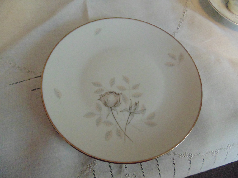 Vintage Rosenthal China Dessert Plate Pattern 3436 Peach \u0026 Gray Rose with Platinum Trim Made in Germany & Vintage Rosenthal China Dessert Plate Pattern 3436 Peach \u0026 Gray Rose ...