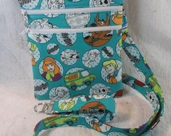 Scooby Doo Theme Fabric Crossbody Bag- FREE SHIPPING