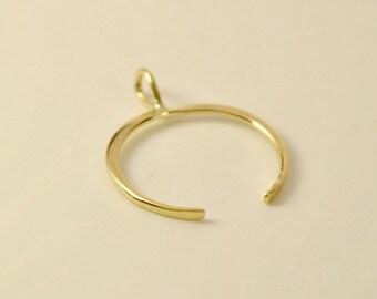 14k Moon Pendant, 14k Moon Necklace, 14k Gold Moon Necklace, 14k Crescent Moon Necklace, 14k Layer Necklace, 14k Double Horn Necklace