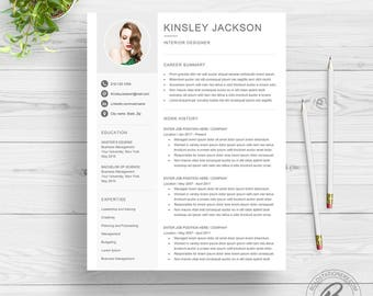 Resume Template With Photo | Photo Resume | CV Template for Word | 2 Page Resume Download | Professional Resume Template | Word CV Design