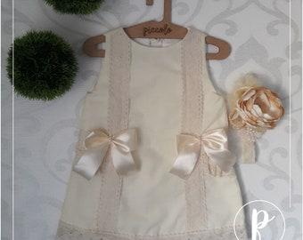 Ivory Dress 2T. Toddler Dress. Girls Dress. Kids Clothes. Baby Dress.