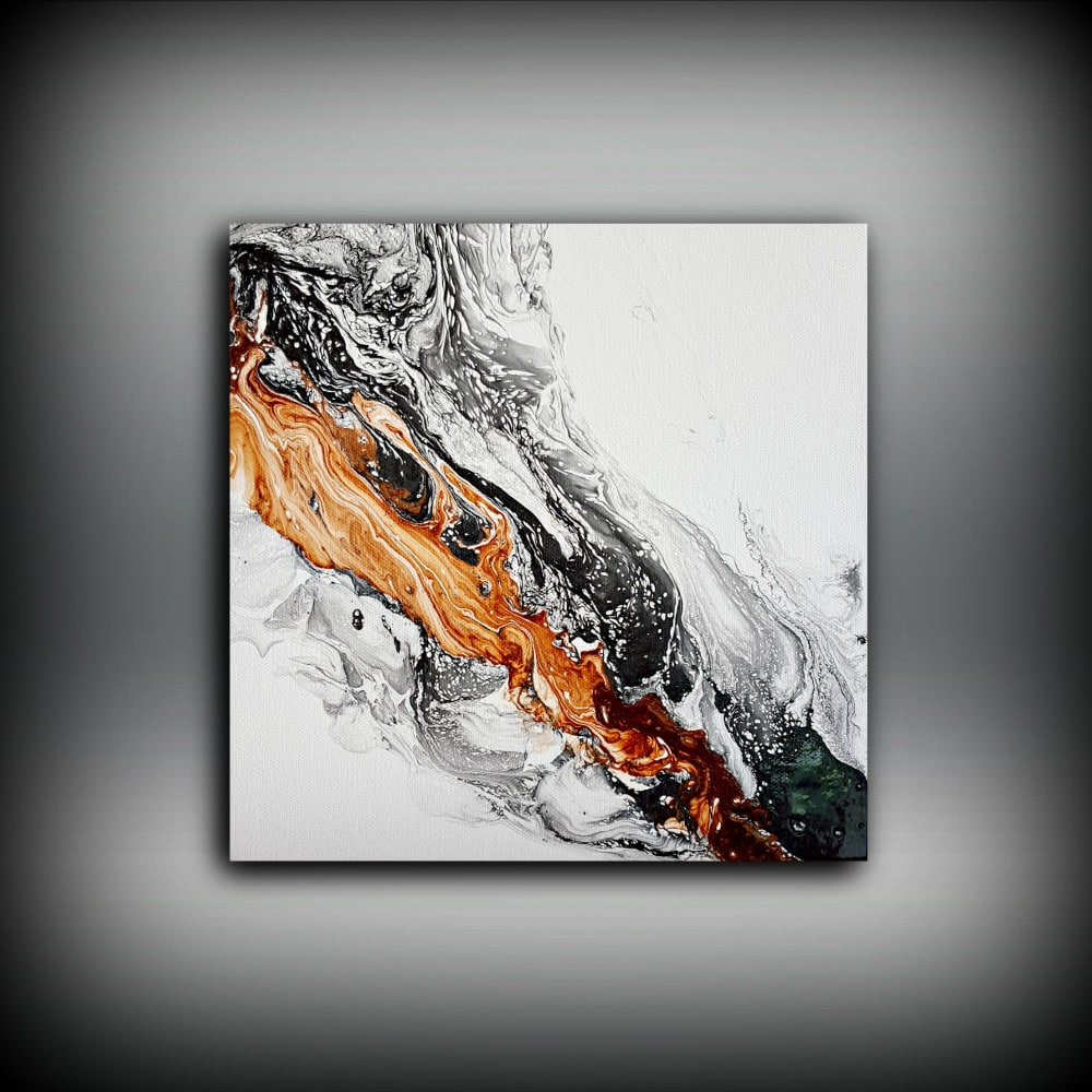 Original painting art painting acrylic painting abstract for Abstract painting on black canvas