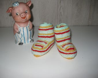 socks wool baby booties