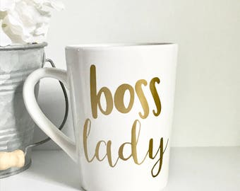 IMPERFECT Boss Lady 14oz coffee mug, coffee cup, gifts for her, boss, girl boss, boss gift, Mother's Day, birthday gift, office mug, office