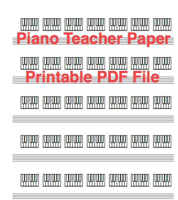 Piano Teacher Keyboard Diagram Paper Download And Printable