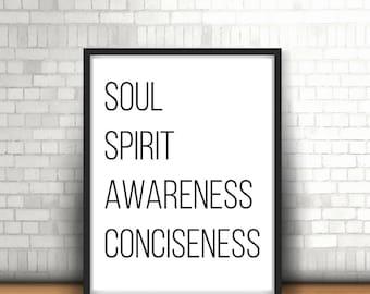 Soul Spirit Awareness Conciseness