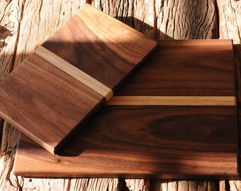 Handmade Walnut Cutting Board Set