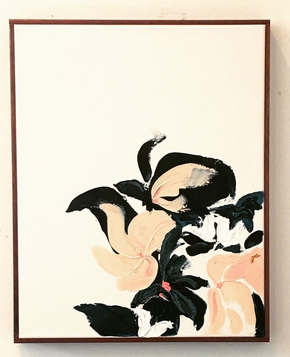 Abstract Botanical Series Original framed painting