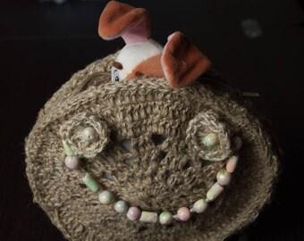 Handbag, Knitting Bag, For her Gift, Everyday Bag, handcrafted bag, circle Bag