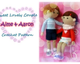 Sweet Lovely Couple - Aime & Aaron (PDF Pattern)