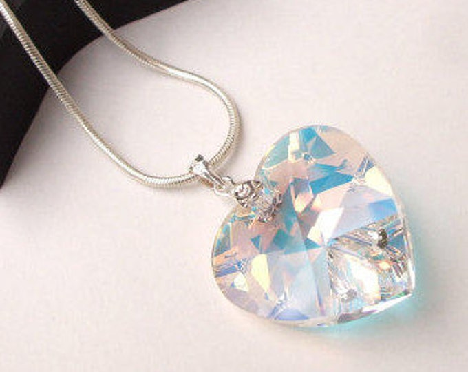 swarovski crystal pendant necklace large pin evanescent new