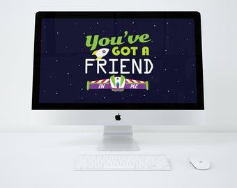 You've Got a Friend in me-Buzz Desktop Wallpaper