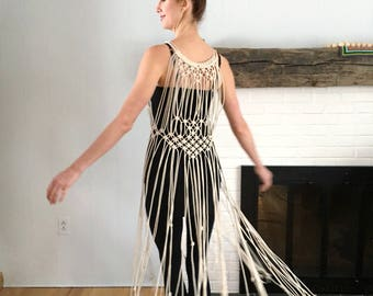 Macrame Dress - Handmade, Wearable Art!