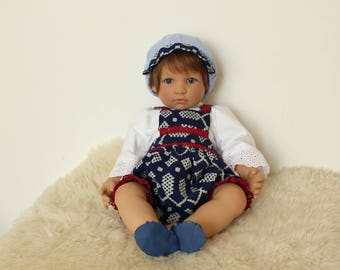 "Reborn/collectible doll clothing set ""Tonicek2"""