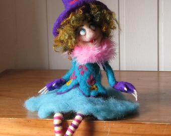 Kitchen witch Art doll Halloween witch Needle felted Felted witch Halloween decor Home decor Kitchen witch
