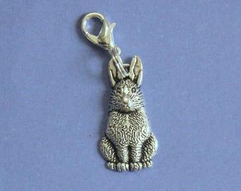 Silver Rabbit Purse Charm,Silver Rabbit Charm,Rabbit Bag Charm,Hare Bracelet Charm,Silver Charm,Bunny Charm,Rabbit Bracelet Charm,Rabbits