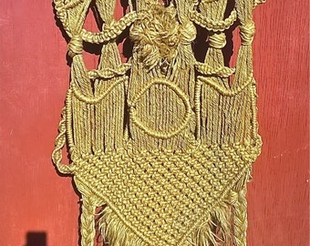 Very Cool Vintage Macramé Wall Hanging