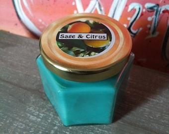 4 Oz Sage & Citrus Scented Candle