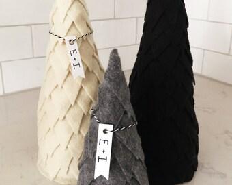 """Handmade Felt Christmas Tree - 7"""" Tall"""