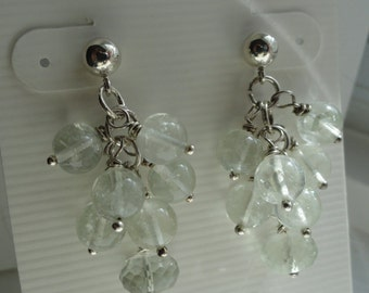Green Amethyst Earrings  -  #331