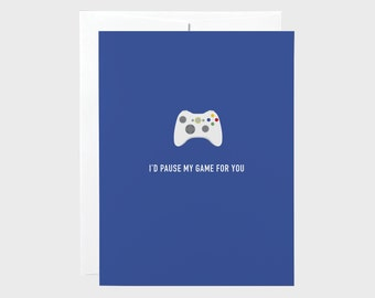 Funny Valentines Card | Funny Love Card | Gamer Love Card | Xbox Card | Valentines Card | Love Card | Anniversary Card