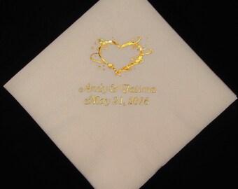 175  Personalized luncheon Napkins wedding napkins briday shower baby shower custom printed napkins