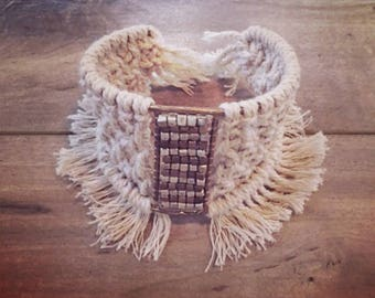 Macrame Handcrafted Boho Cuff