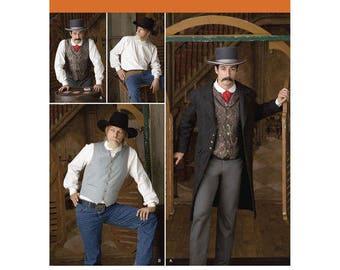 Simplicity 2895 - MENS Frock Coat, Shirt & Vest