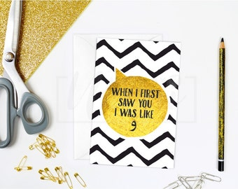 When I First Saw You I Was Like (wow), Arabic greeting card, islamic card, A6, Quirky Me Collection