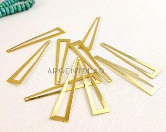 10pcs 8x40mm High Quality Raw Brass Triangle Pendants Earring Drops Geometry Minimal Painting Custom Eco-friendly Brass 1AG136
