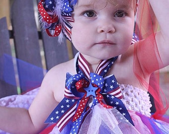 Patriotic Tutu Dress and Headband
