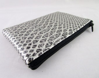 Silver and Black Snake leatherette wallet